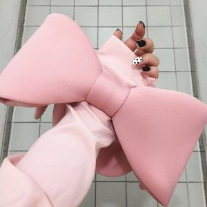 Pink Bow Statement Bag